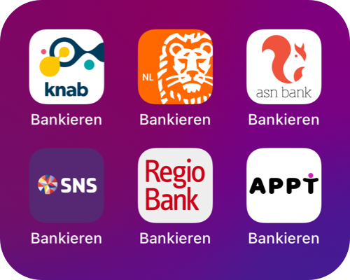 Zes apps met dezelfde naam: Bankieren